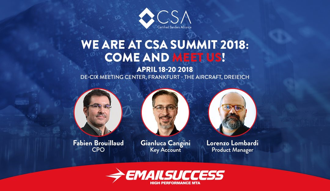 CSA SUMMIT 2018: Come and Meet the EmailSuccess Team